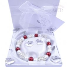 Custom Made Maid of Honour Wedding Bracelet - Choice of Charms & Colour